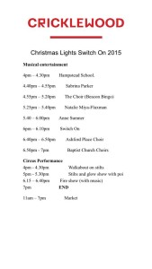 Lights Switch On 2015 programme