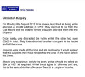 Distraction Burglary