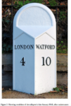 Historic Victorian Cricklewood Milepost